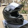 Чёрный шлем интеграл полнопрофильный Foxwell глянец, фото 2