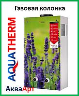 Колонка газовая проточная Aquatherm JSD20-AG108 10 л стекло (цветок)