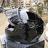 Чёрный шлем интеграл полнопрофильный Foxwell глянец, фото 4