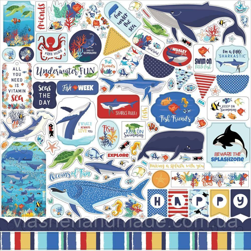 Наклейки - Fish Are Friends - Carta Bella - 30x30