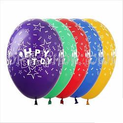 """Шар 12""""/30 см, Happy Birthday (5 ст.), TM SHOW"""