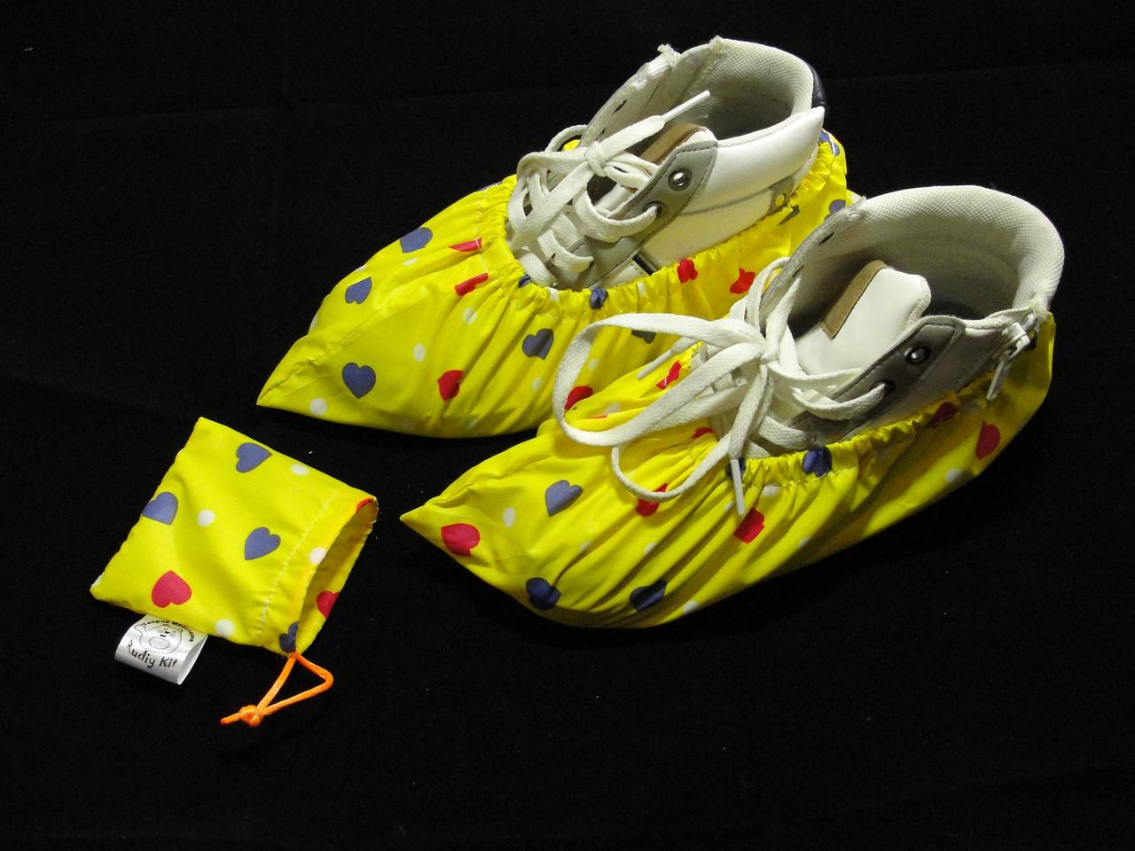 Непромокаемые многоразовые чехлы - бахилы желтые взрослые XL
