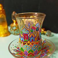 """Стакан турецький """"лале, тюльпан, армуд"""", ручна розпис., фото 1"""