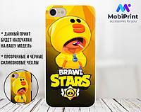 Силиконовый чехол для Xiaomi Redmi Note 7 Brawl Stars Леон Утка Салли  (Бравл Старс) (13033-3420)