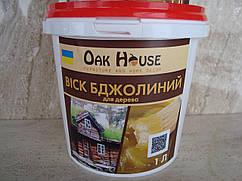"""Натуральный пчелиный воск для дерева """"Oak House"""" (бесцветный) 0,5 кг"""
