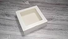 Коробка 200х200х60 мм. для макарун, зефіра, еклерів / макаронс, зефира, эклеров пирожных