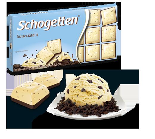 Шогеттен шоколад черный с белым Страчателла 100 грамм