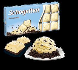 Шогеттен шоколад чорний з білим Страчателла 100 грам