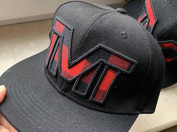 Черная кепка TMT прямым козырьком Snapback, фото 2