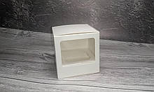 Коробка для 1 кекса, маффіна, капкейка / 1 кекса, маффина, капкейка. 90х90х90 мм