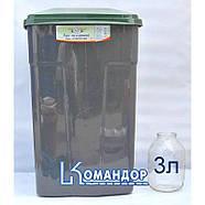 Бак мусорный 90л зелено-серый, фото 3