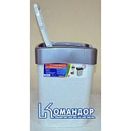 Ведро для мусора Евро 25 л (кремовый - темно-коричневый), фото 2