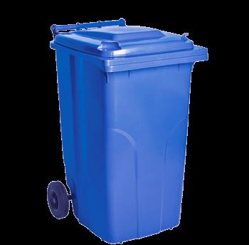 Бак для мусора на колесах с ручкой 240 л синий
