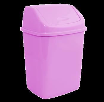 Ведро для мусора 5л с крышкой розовое