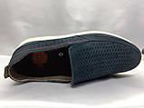 Літні комфортні сині нубукові туфлі Detta, фото 8