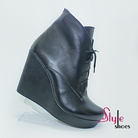 Стильные женские ботинки на каблуке, фото 1