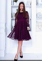 Женское ажурное платье с пишной юбкой