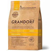 Сухой корм Grandorf Living Probiotics 4 Meat & Brown Rice Mini для собак малых пород, 4 мяса с пробиотиками, 3 кг