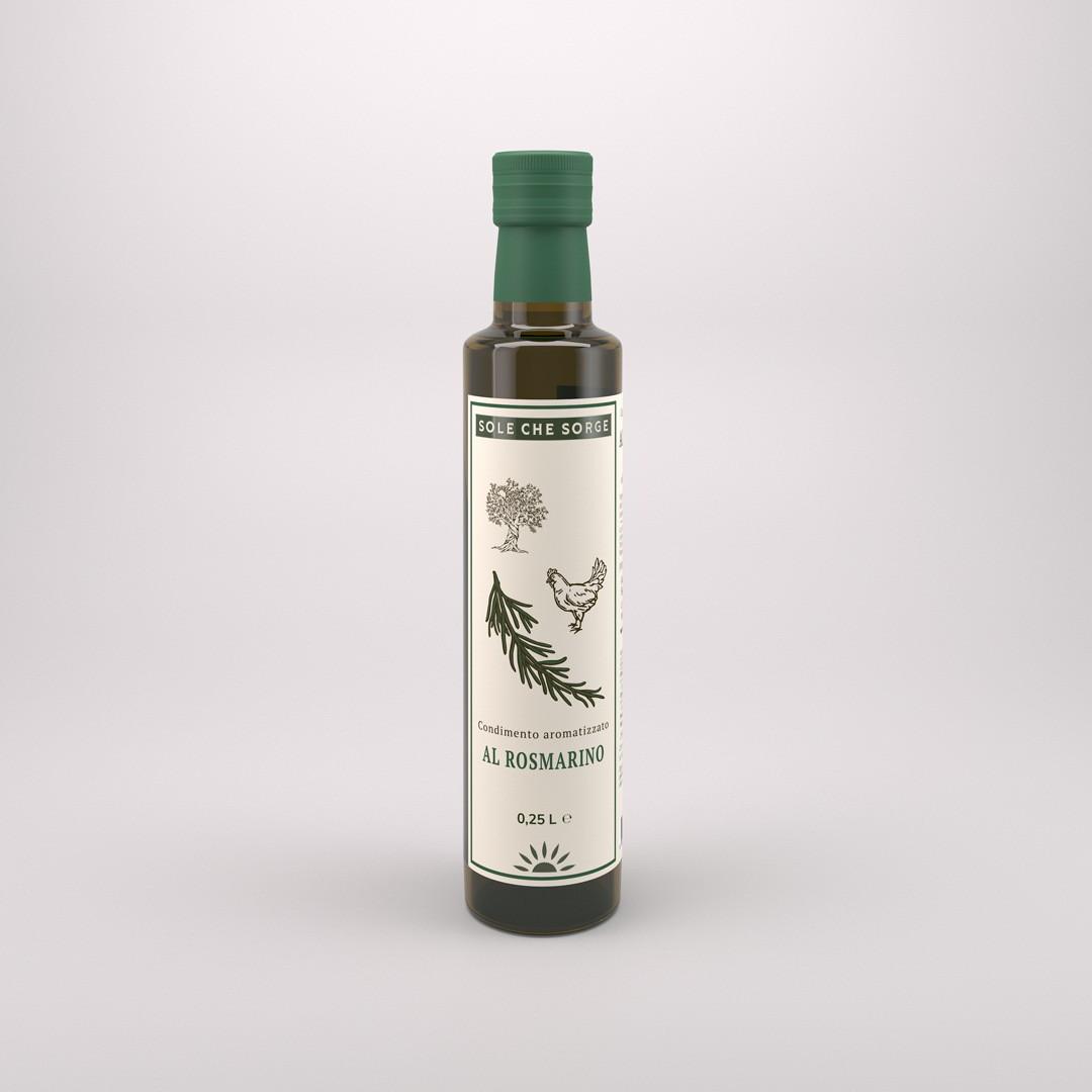 Заправка из Сицилийского оливкового масла Extra Vergine с розмарином  Sole che Sorge. 250 мл