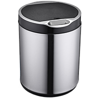 Сенсорное мусорное ведро JAH 9 л круглое серебро с внутренним ведром