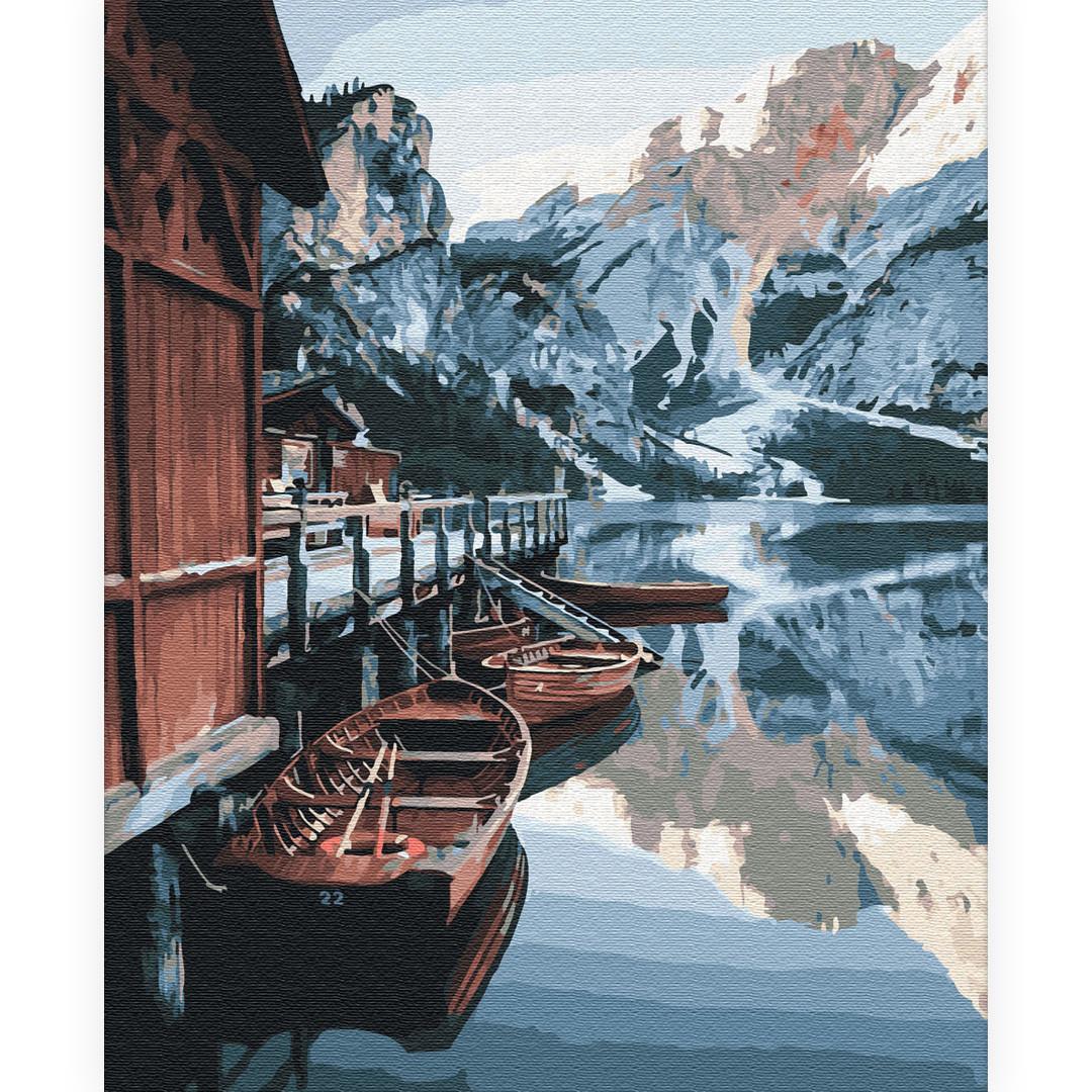 Картина по номерам Причал на озере (BK-GX33021) 40 х 50 см (Без коробки)