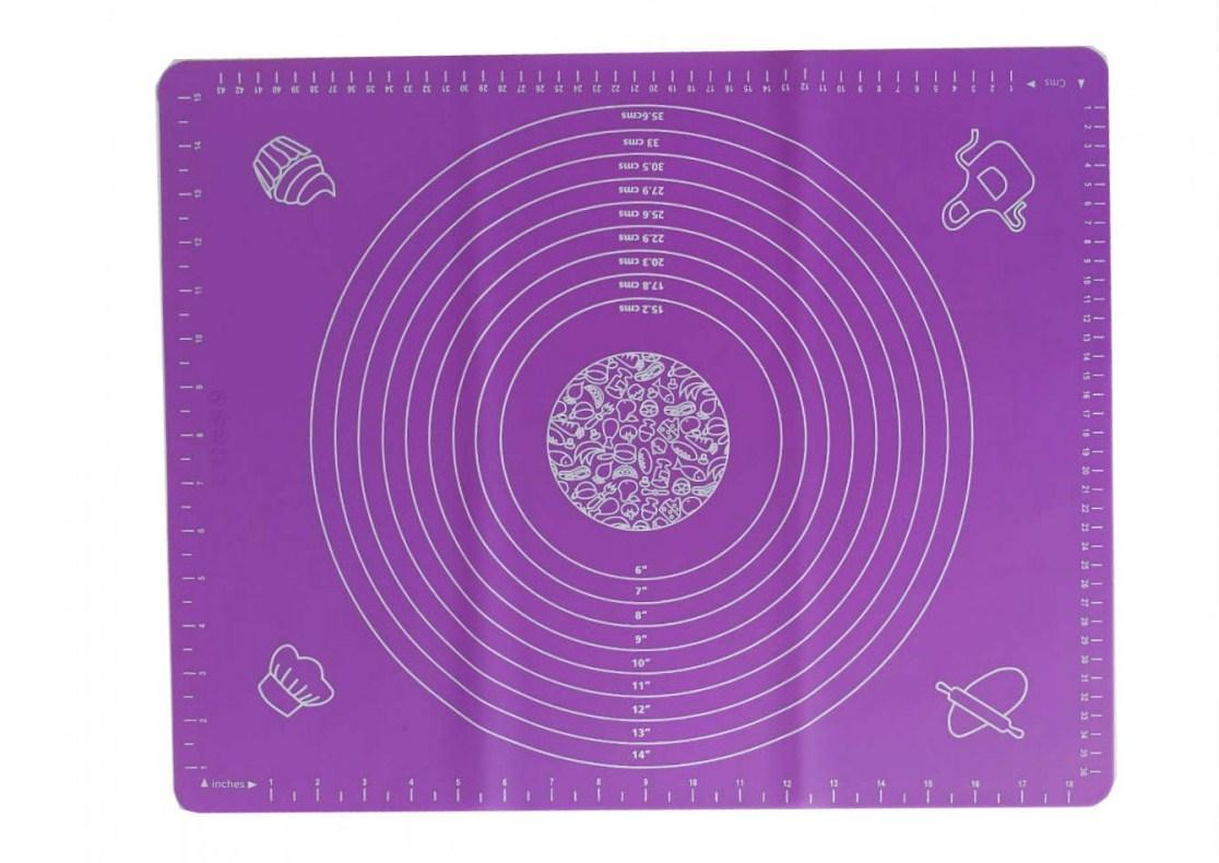 Силіконовий килимок для розкочування тіста і випічки 40 х 50 см з розмітками