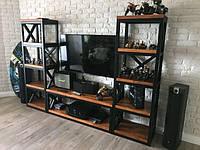 Стеллаж для TV в стиле LOFT (NS-970001346), вис-1600мм, шир-320мм, довж-1640мм,