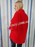 Жіноче вкорочене пальто з вовни альпака, фото 5