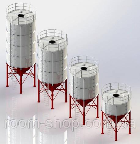 Силос емкость для сыпучих (бункер накопитель) СЦ-52 тонн, фото 2