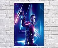Постер BEGEMOT Мстители Супергерои MARVEL Тони Старк Железный человек Iron Man 40x61 см (1120999)