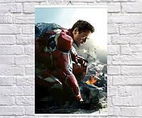 Постер BEGEMOT Мстители Супергерои MARVEL Тони Старк Железный человек Iron Man 40x61 см (1121056)