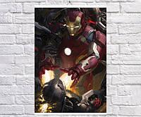 Постер BEGEMOT Мстители Супергерои MARVEL Тони Старк Железный человек Iron Man 40x61 см (1121073)