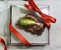 Шоколадная рыбка. Рыбка из шоколада. Шоколадна рибка. Смешной подарок любителю рыбалки