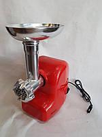 Электрическая мясорубка Wimpex WX-3076 2000 Вт электромясорубка красная, фото 1