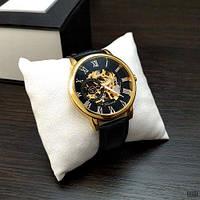 Механические наручные часы Forsining 8099 Black-Gold-Black