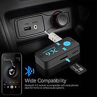 Беспроводной AUX Bluetooth+MP3 microSD приемник,адаптер,ресивер, ГРОМКАЯ СВЯЗЬ X6