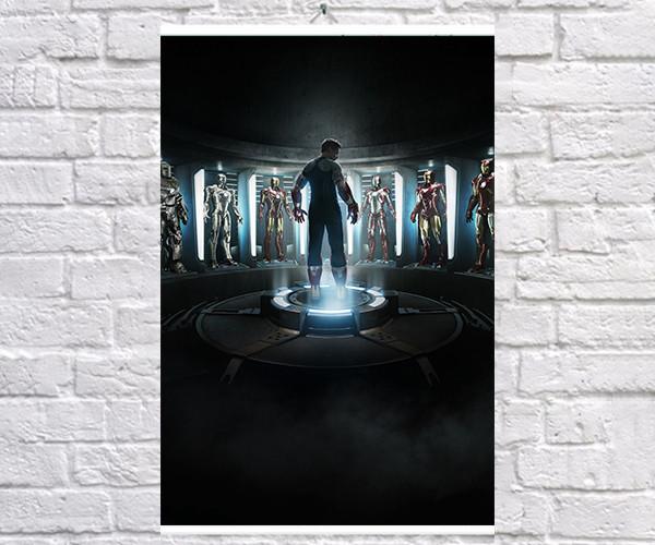 Постер BEGEMOT Мстители Супергерои MARVEL Тони Старк Железный человек Iron Man 40x61 см (1121086)