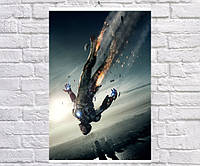 Постер BEGEMOT Мстители Супергерои MARVEL Тони Старк Железный человек Iron Man 40x61 см (1121087)