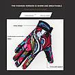 Повні спортивні вітрозахисні мотоциклетні рукавички з принтом графіті. Розмір XL, фото 6
