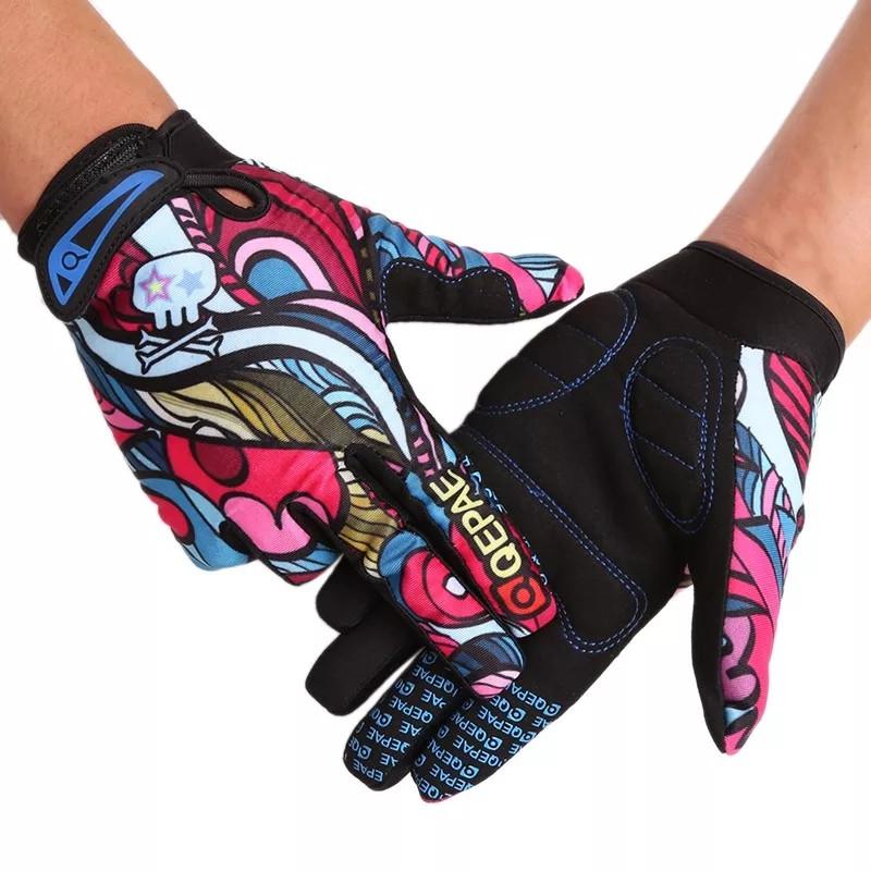Повні спортивні вітрозахисні мотоциклетні рукавички з принтом графіті. Розмір XL
