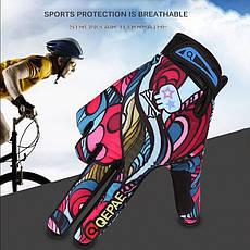 Повні спортивні вітрозахисні мотоциклетні рукавички з принтом графіті. Розмір XL, фото 2
