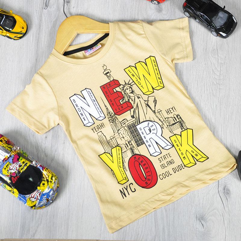 Детская футболка, трикотаж, для мальчика раз. 86-92/98-104/110-116/122-128 см, 1-8 лет (4 ед. в уп)