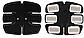 Пояс Ems-trainer 3 в 1 Миостимулятор пресса и рук для похудения тренажер, фото 3