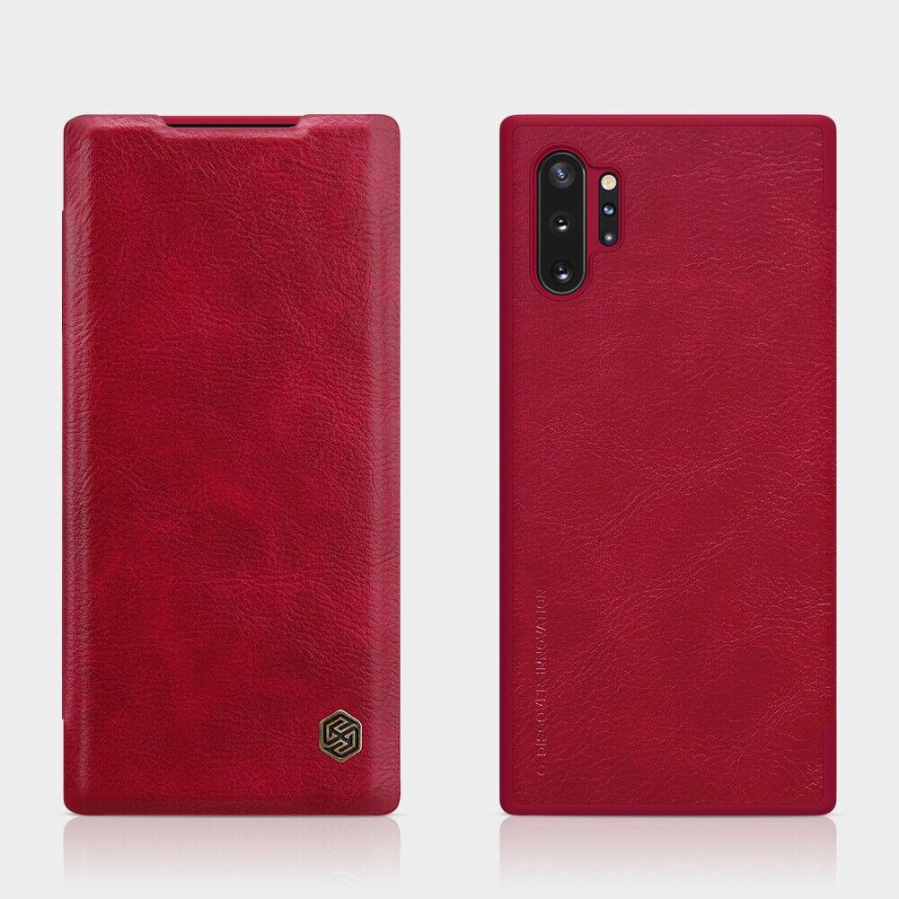 Nillkin Samsung Galaxy Note 10+Qin leather Red case Кожаный Чехол Книжка