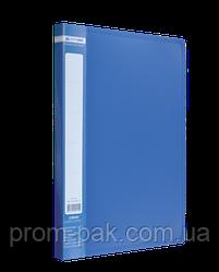 Папка A4 с боковым прижимом JOBMAX, синий