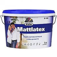 Краска латексная матовая Дюфа D100, 5 л