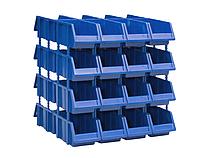 Двухсторонний пластиковый стеллаж 315-32 (Ш695хД614хВ650мм) 32 ящика