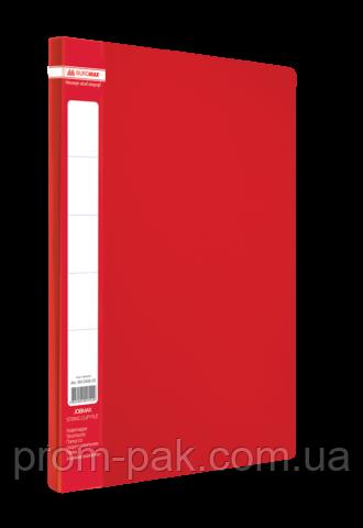 Папка A4 с боковым прижимом JOBMAX, красный