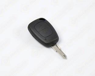 Корпус ключа с платой и язычком, на 2 кнопки на Renault Trafic II 2001->2014 - DSP (Китай) - PG350