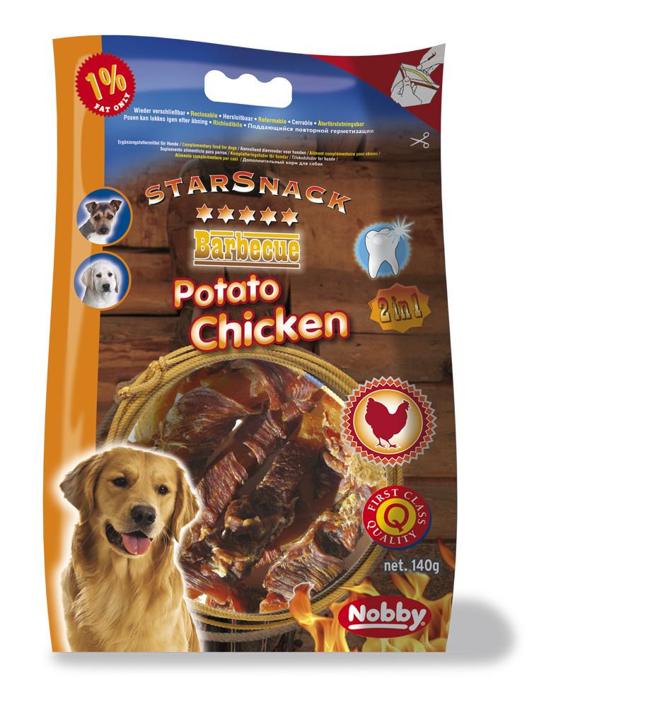 Лакомство для собак Barbecue палочки сладкий картофель з куркою  140 гр